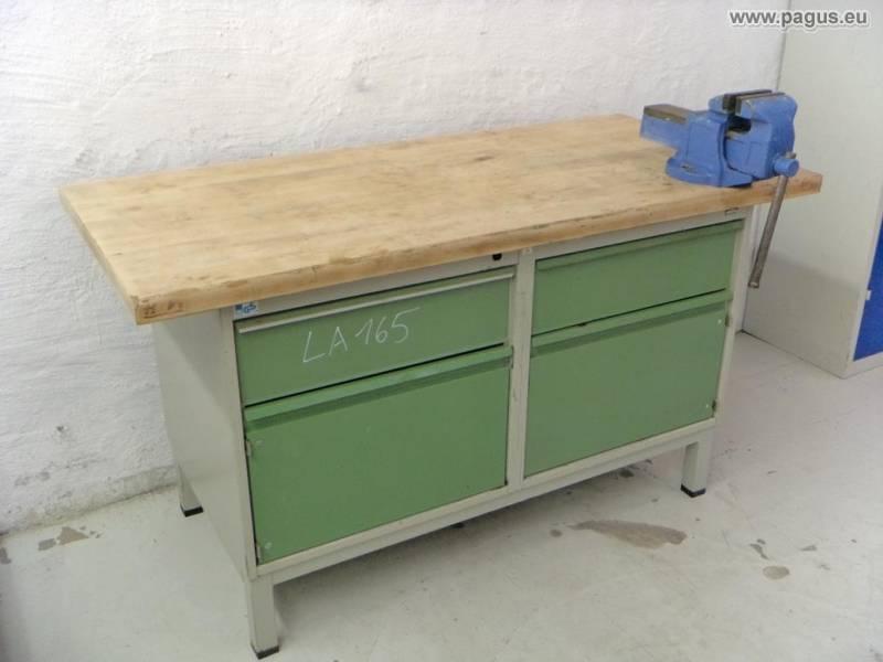 werkbank mit schraubstock und werkzeugschrank gebrauchte. Black Bedroom Furniture Sets. Home Design Ideas